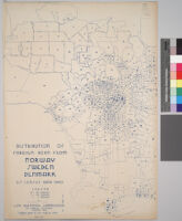 Maps showing distribution of racial and national groups in the Los Angeles area, according to the 1940 United States census: Distribution of foreign born from Norway, Sweden, Denmark, U.S. Census data, 1940