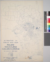 Maps showing distribution of racial and national groups in the Los Angeles area, according to the 1940 United States census: Distribution of foreign born from Poland, Yugoslavia, Czechoslovakia, U.S. Census data, 1940
