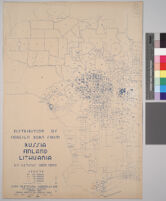 Maps showing distribution of racial and national groups in the Los Angeles area, according to the 1940 United States census: Distribution of foreign born from Russia, Finland, Lithuania, U.S. Census data, 1940