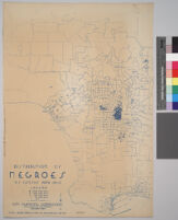 Maps showing distribution of racial and national groups in the Los Angeles area, according to the 1940 United States census: Distribution of Negroes, U.S. Census data, 1940