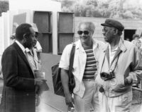 Andrew Simpkins with Percy Heath and Jerome Richardson at the Hollywood Bowl, 1983 [descriptive]