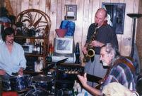 Richard Tabnik with John McCutcheon and Sonny Dallas in Shirley, New York, 2004 [descriptive]