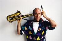 Richard Tabnik with saxophone in New York, 2003 [descriptive]