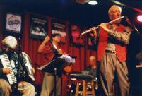 Herbie Mann, Geoff Mann, Gil Goldstein, and Paul Socolow performing, 2000 [descriptive]