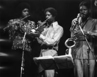 Frank Lowe, James Newton, and Butch Morris performing in Los Angeles, 1976 [descriptive]
