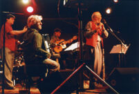 Herbie Mann, Gil Goldstein, Paul Socolow, and Bruce Dunlap performing in 2000 [descriptive]