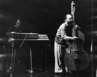 Don Preston with Buell Neidlinger performing wtih The El Monte Art Ensemble in Los Angeles, 1976 [descriptive]