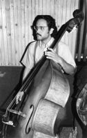 Roberto Miranda playing double bass in Los Angeles, 1980 [descriptive]
