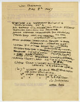 Beard House, notes for detached building, 1947