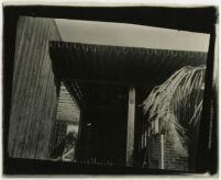 Beard House, tilted view of interior construction, Altadena, California, 1934