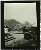 Beard House, building materials, Altadena, California, 1934