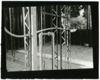 Beard House, metal beams and pipes, Altadena, California, 1934