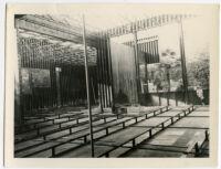 Beard House, view of interior construction, Altadena, California, 1934