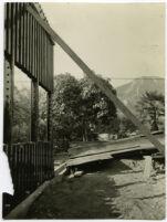 Beard House, frame during construction, Altadena, California, 1934