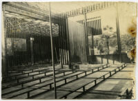 Beard House, interior view of construction, Altadena, California, 1934