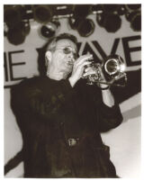 Herb Alpert playing trumpet in Los Angeles [descriptive]