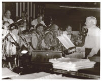 Unidentified jazz band and bandleader [descriptive]