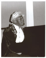 Charles Brown playing the piano, Los Angeles, California, March 1997 [descriptive]