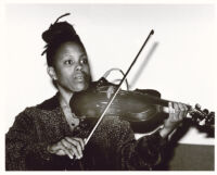 Regina Carter playing violin, Los Angeles [descriptive]