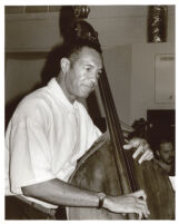 John Clayton playing double bass in Los Angeles [descriptive]