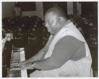 Cyrus Chestnut playing piano, Los Angeles [descriptive]