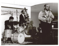 Clayton Brothers performing at the Armand Hammer Museum in Los Angeles [descriptive]