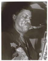 George Coleman playing saxophone, Los Angeles, August 1995 [descriptive]
