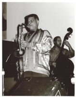 George Coleman on saxophone with Jeff Littleton on double bass, Los Angeles, November 1999 [descriptive]