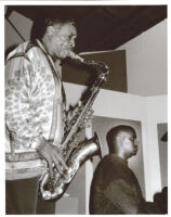George Coleman playing the saxophone and Denny Grissett, Los Angeles, November 1999 [descriptive]