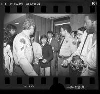 Roman Polanski leaving courtroom in Santa Monica, Calif., 1977