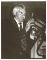 Conte Candoli playing the trumpet in Los Angeles [descriptive]