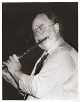 Gary Foster playing the flute, Los Angeles, January 1995 [descriptive]