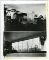 Beard House, exterior eastern view and interior view, Altadena, California, 1934