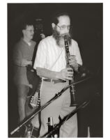 Fishel (Michael) Bresler playing the clarinet in Los Angeles, February 1997 [descriptive]