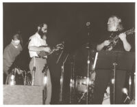 David Grisman and Fishel (Michael) Bresler playing mandolins in Los Angeles, February 1997 [descriptive]