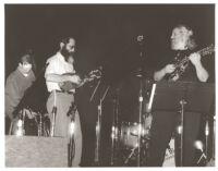 David Grisman and Fishel (Michael) Bresler playing mandolins in Los Angeles, February 1997 [descriptive]