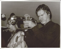 Tom Harrell playing the flügelhorn and Don Braden playing the tenor sax, Los Angeles, August 1996 [descriptive]