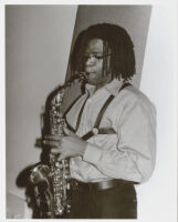 Antonio Hart playing the saxophone in Los Angeles [descriptive]
