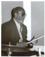 "Albert ""Tootie"" Heath playing the drums, Los Angeles [descriptive]"