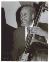 Percy Heath playing the bass, Los Angeles, 1999 [descriptive]