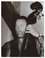 Dave Holland playing the double bass in Los Angeles, February 1997 [descriptive]
