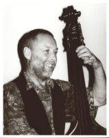 Dave Holland playing the double bass in Los Angeles [descriptive]