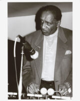 Milt Jackson playing vibes  in Los Angeles, February 1996 [descriptive]