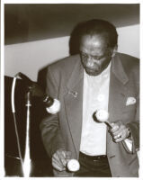 Milt Jackson playing vibes, Los Angeles, February 1996 [descriptive]