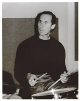 Joe LaBarbera playing drums in Los Angeles, February 1997 [descriptive]