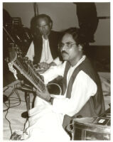 Jayant Kumar Das playing sitar in Los Angeles, January 1996 [descriptive]