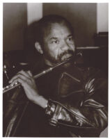 Hubert Laws playing the flute in Los Angeles [descriptive]