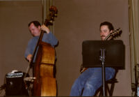 Darek Oles and Larry Koonse performing with the L.A. Jazz Quartet, Los Angeles, February 1997 [descriptive].