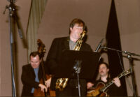 Darek Oles, Chuck Manning and Larry Koonse performing with the L.A. Jazz Quartet, Los Angeles, February 1997 [descriptive].