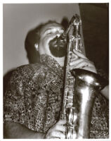 Joe Lovano playing sax in Los Angeles, October 1995 [descriptive]